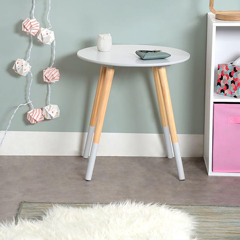 bjarni table basse ronde grise. Black Bedroom Furniture Sets. Home Design Ideas
