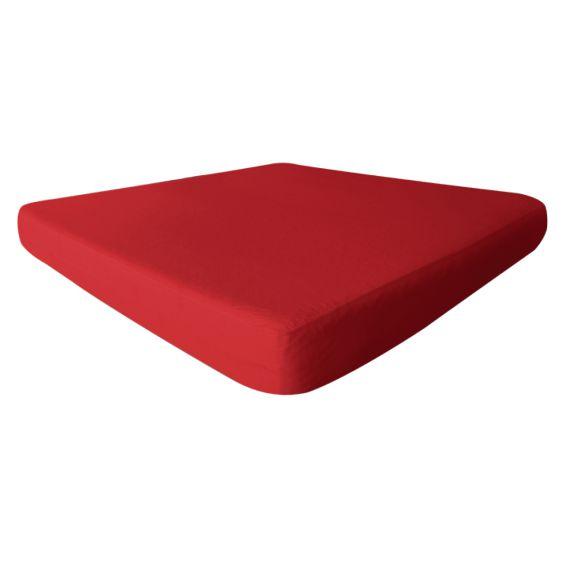 Fresh - Drap Housse 80x200cm Rouge - Imperméable et Respirant