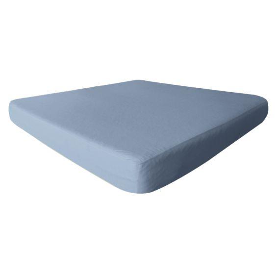 Fresh - Drap Housse 200x200cm Bleu Ciel - Imperméable et Respirant