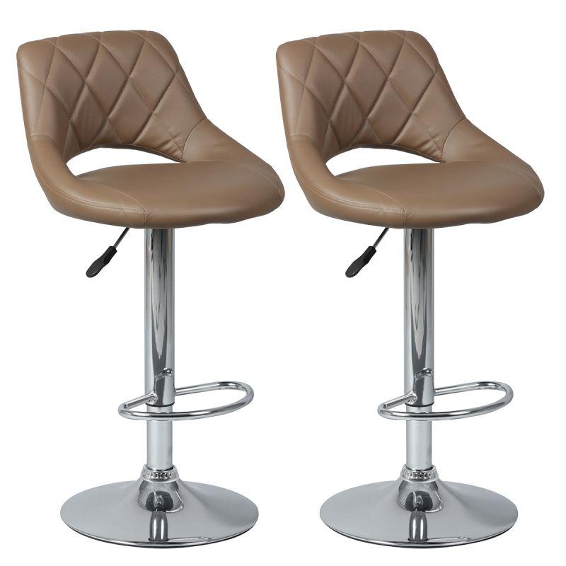 hamilton lot de 2 tabourets de bar marron altobuy. Black Bedroom Furniture Sets. Home Design Ideas