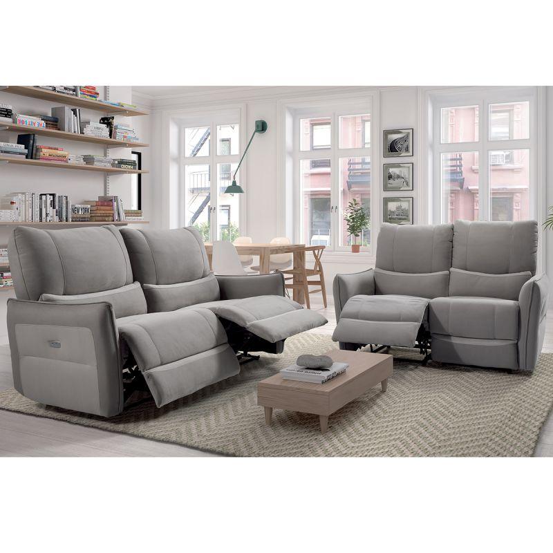 gijon canap s relax electriques 3 places et 2 places. Black Bedroom Furniture Sets. Home Design Ideas
