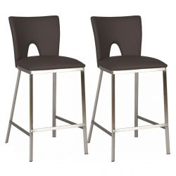 Catalia - Lot de 2 Tabourets Noirs