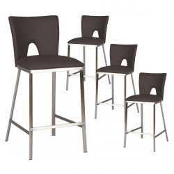 Catalia - Lot de 4 Tabourets Noirs