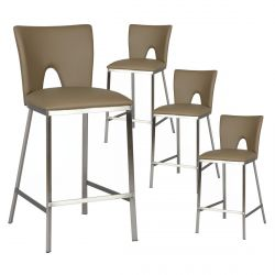 Catalia - Lot de 4 Tabourets Taupe