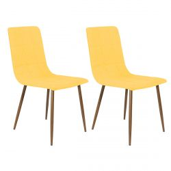 Modrus - Lot de 2 Chaises Jaunes