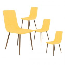 Modrus - Lot de 4 Chaises Jaunes