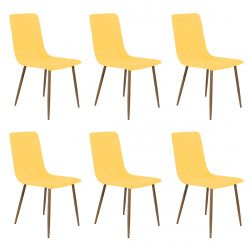 Modrus - Lot de 6 Chaises Jaunes