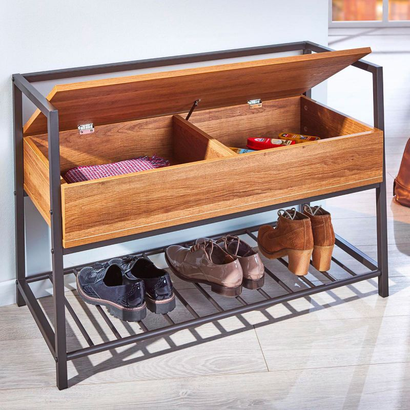 selah banc chaussures avec coffre de rangement meuble. Black Bedroom Furniture Sets. Home Design Ideas
