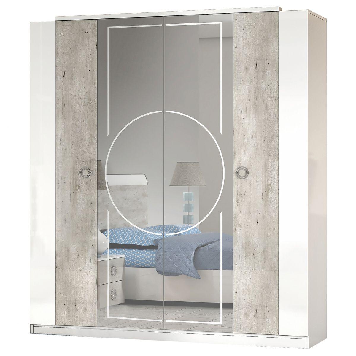 Altobuy Goya Armoire 4 Portes Avec Miroir Central Neuf Ebay