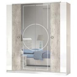 Goya - Armoire 4 Portes avec Miroir Central