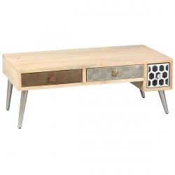 Razon - Table Basse 3 Tiroirs