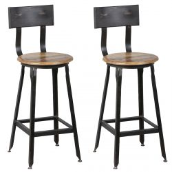 Indus - Lot de 2 Chaises Snack