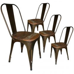 Calista - Lot de 4 Chaises Marron