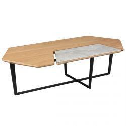 Evelina - Table Basse Hexagonale bi-matière