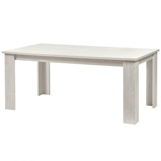 Galaad - Table Rectangulaire 190cm Effet Chêne Blanchi