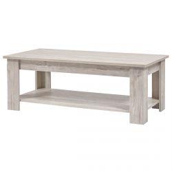 GALDRIC - Table Basse Rectangulaire Effet Bois Grisé