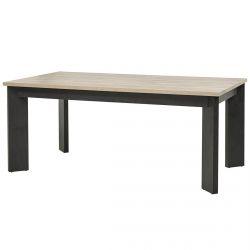 EMILE - Table Rectangulaire 185cm Aspect Bois et Béton