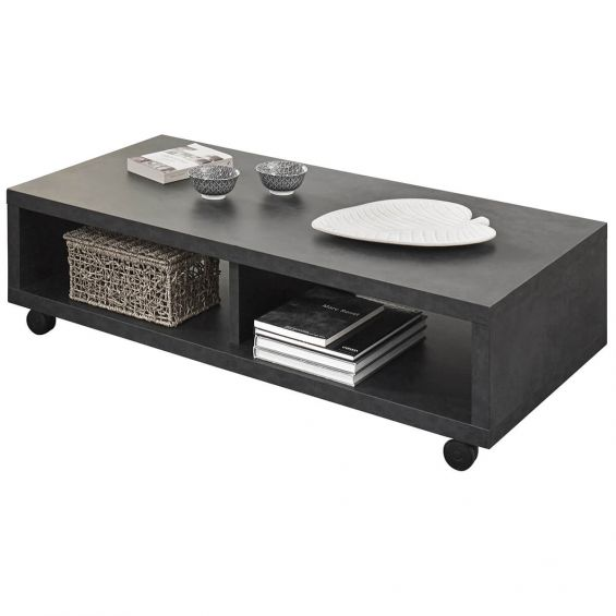 Emile - Table Basse Rectangulaire bi-ton