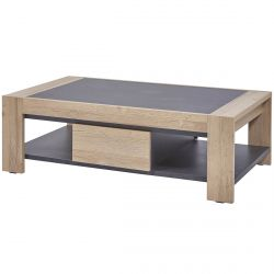 HORATIO - Table Basse Rectangulaire 1 Tiroir