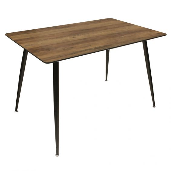 Tiany - Table Repas Rectangulaire Effet Bois