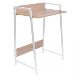 Gregg - Bureau Simple Piétement Métallique Blanc