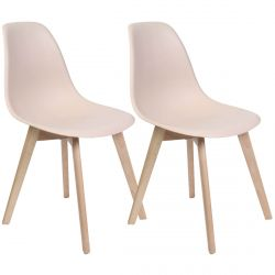 MELYA - Lot de 2 Chaises Scandinaves Roses