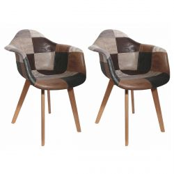 Melo - Lot de 2 Fauteuils Scandinaves Aspect Ancien