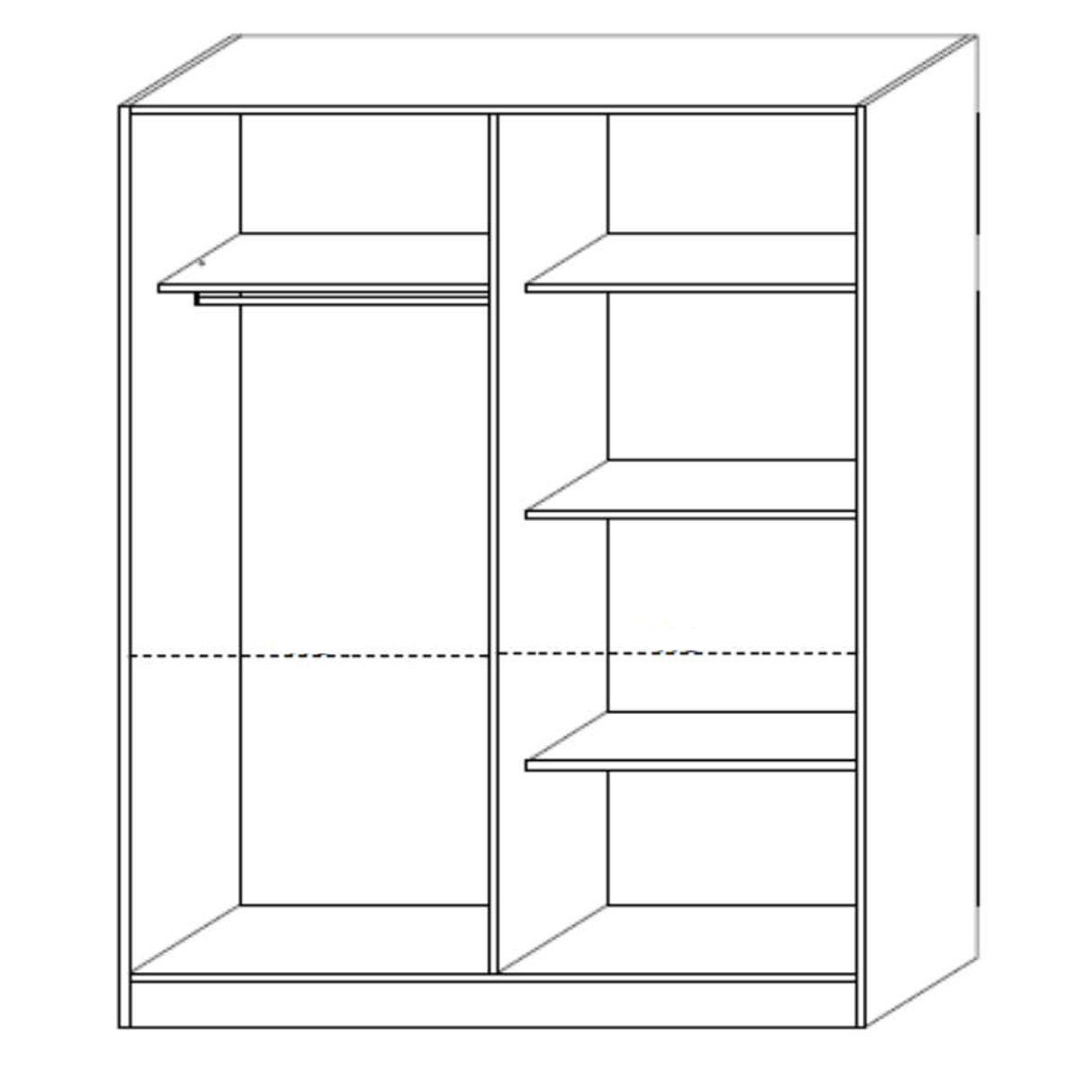 Altobuy-Solaya-Chambre-Complete-avec-Lit-160x200cm-Neuf miniature 4