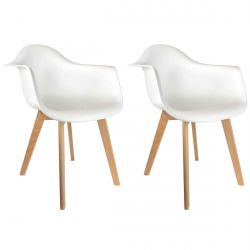 Eline - Lot de 2 Fauteuils Enfant Scandinaves Blancs