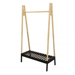 Veran - Porte-Vêtements Design Noir et Bois