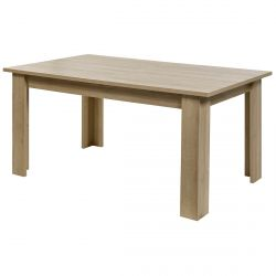 IRIS - Table Rectangulaire Allongeable Imitation Bois