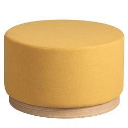 Atna - Bout de Canapé Placage Frêne et Tissu Jaune
