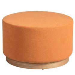 ATNA - Bout de Canapé Placage Frêne et Tissu Orange