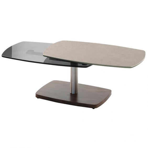 Sherry Table Basse Plateaux Verre Gris Pierre Altobuy Fr