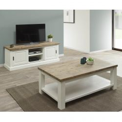 DRESDE - Ensemble Table Basse et Meuble TV