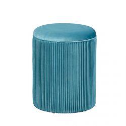 Skuld - Pouf avec Coffre de Rangement Bleu Canard