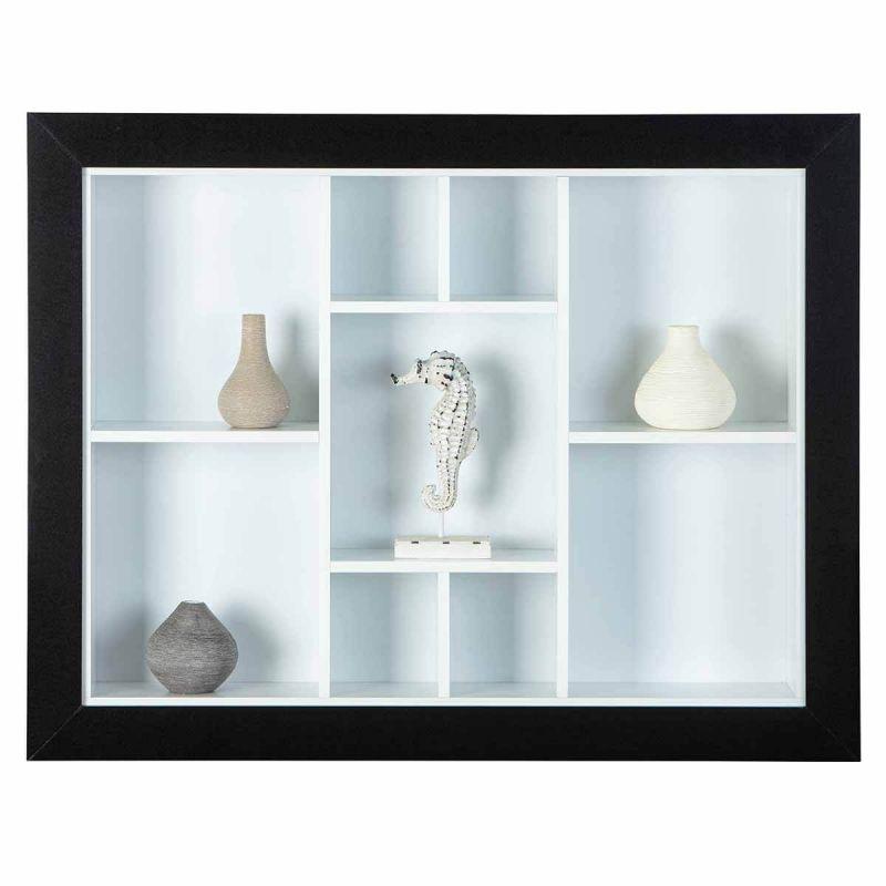 dorothea etagere murale noire et blanche modele a