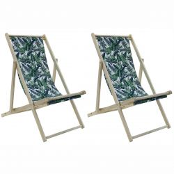 Milim - Lot de 2 Chiliennes Tissu Motif Jungle
