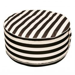 Milim - Pouf Rond Gonflable Motif Rayures