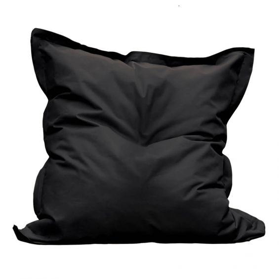 Square - Pouf d'Extérieur Tissu Coloris Noir