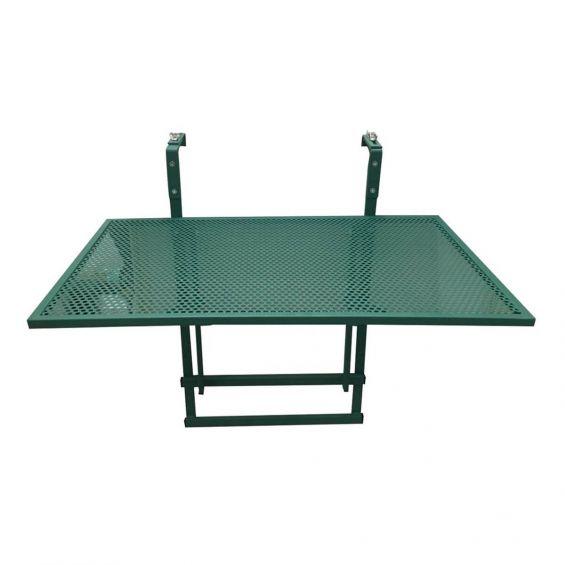 Alinda - Table de Balcon Pliable Verte Rectangulaire