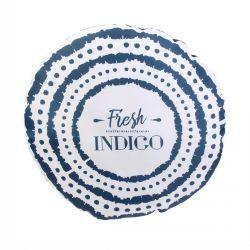 Indigo - Coussin Déco Extérieur Rond Bleu
