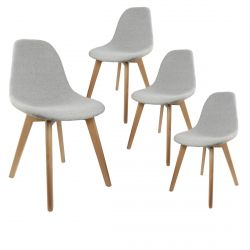 Medyna - Lot de 4 Chaises Scandinaves Grises