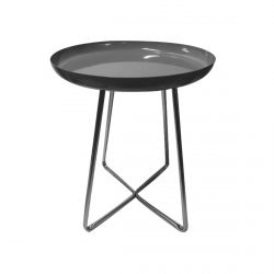 Apryl - Table d'Appoint Ronde Coloris Gris