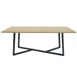 CYANE - Table Basse Rectangulaire Plateau Imitation Bois