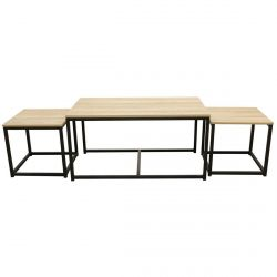 Cybele - Lot de 3 Tables Basses Gigognes