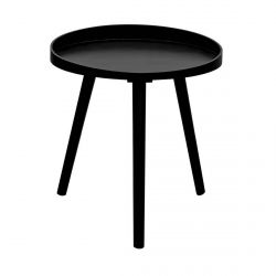 LALIN - Table d'Appoint Ronde Diam. 40cm Coloris Noir