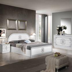 SOLAYA - Chambre avec Lit 160x200cm et Commode