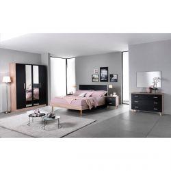 MAELYS - Chambre Complète avec Lit 160x200cm