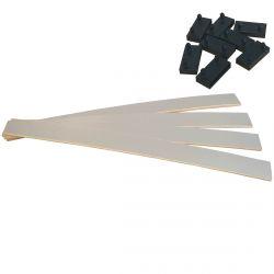 AltoZone - Lot de 4 Lattes 88cm + 8 Embouts Noirs